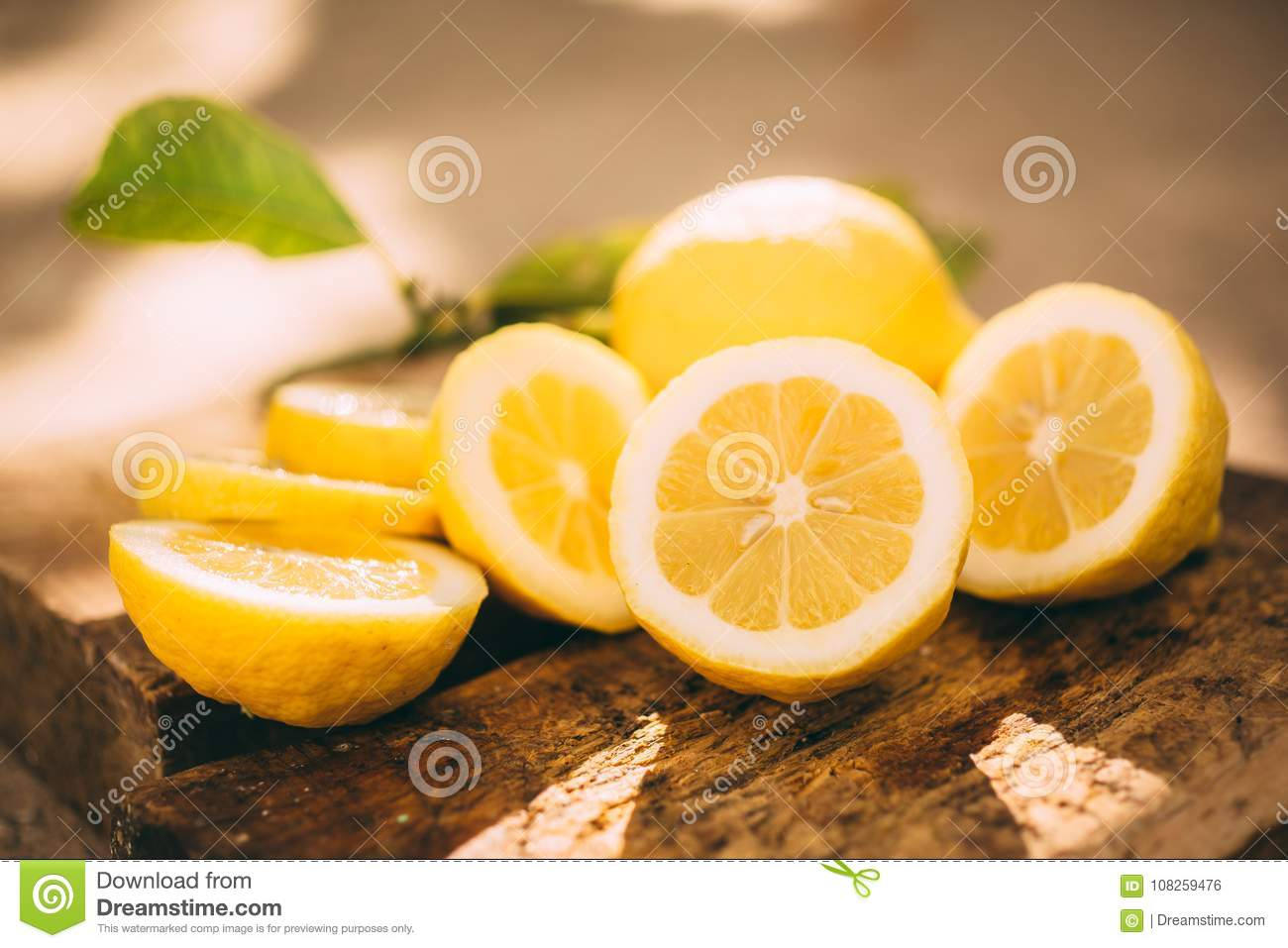 Limonade de support, citron de tranche