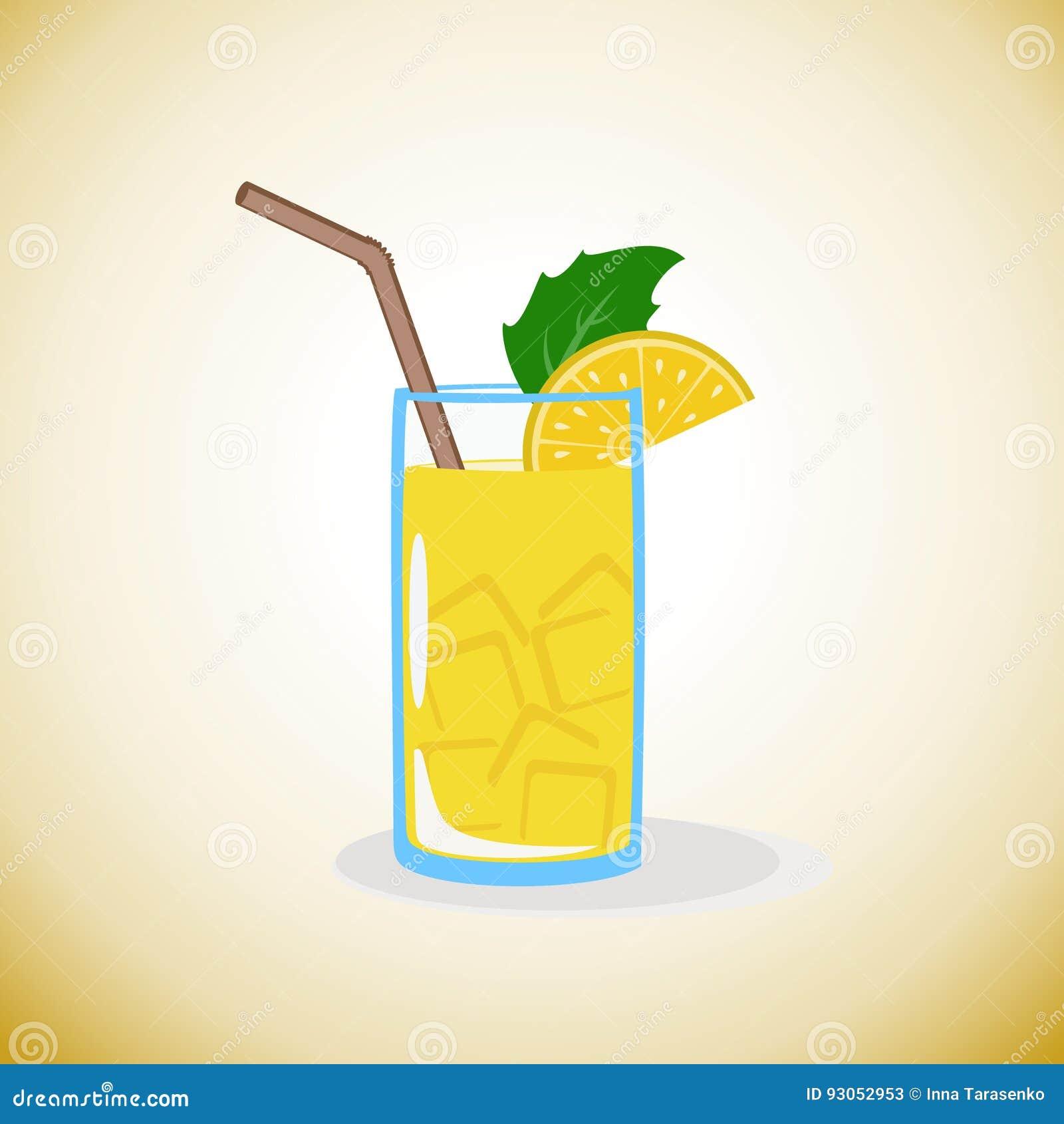 Limonade met citroen en ijs