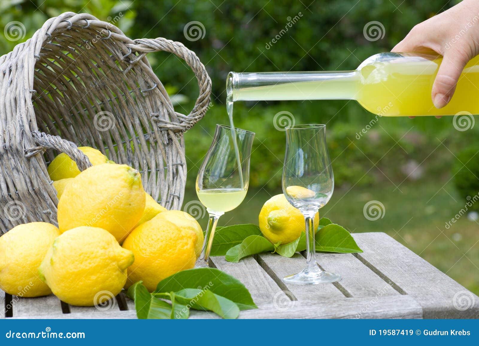 Limoncello et citrons