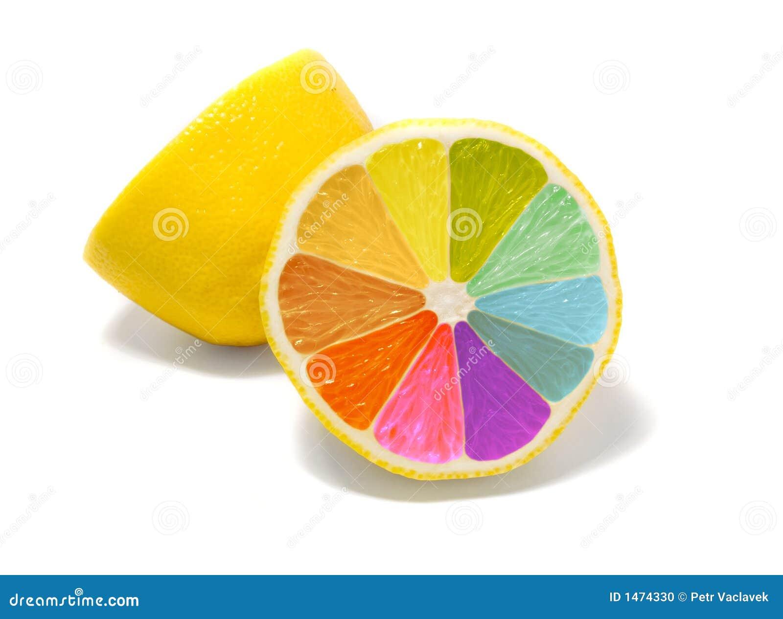 Limoni Disegno: Limone Colorato Fotografia Stock