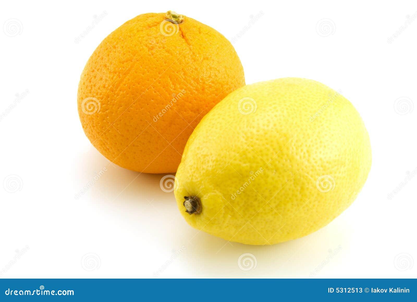 Download Limone ed arancio immagine stock. Immagine di gourmet - 5312513