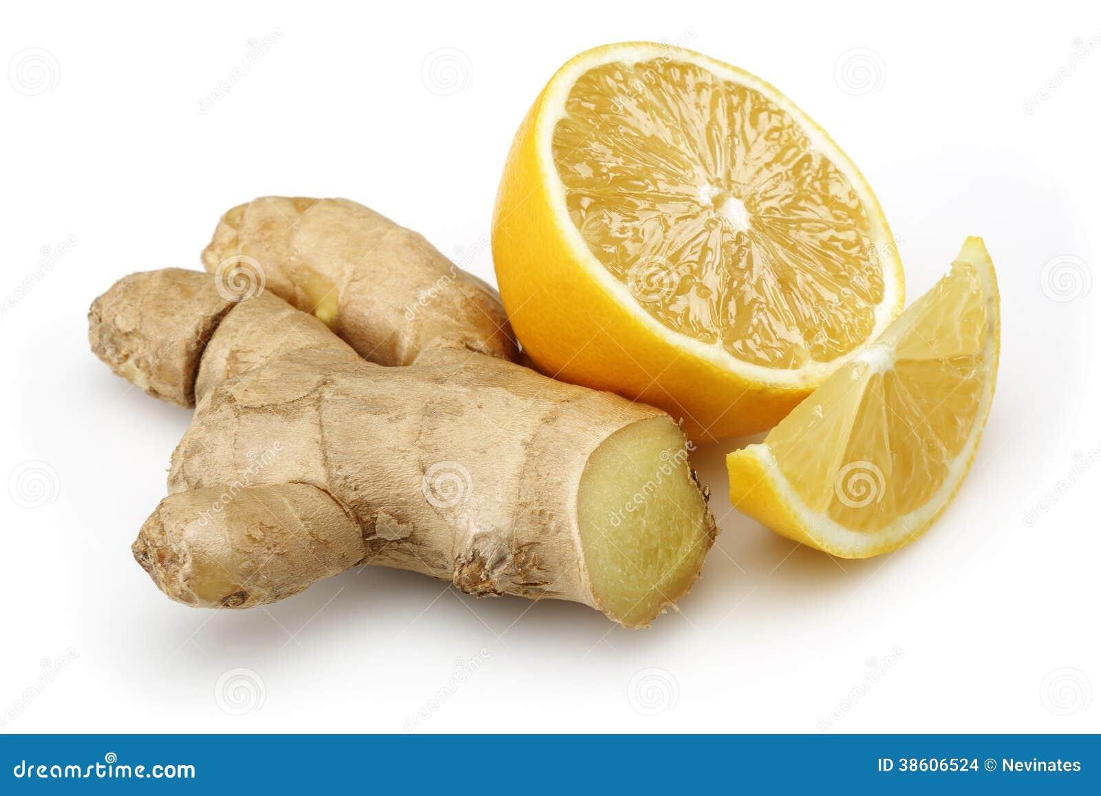 Limone fresco con lo zenzero