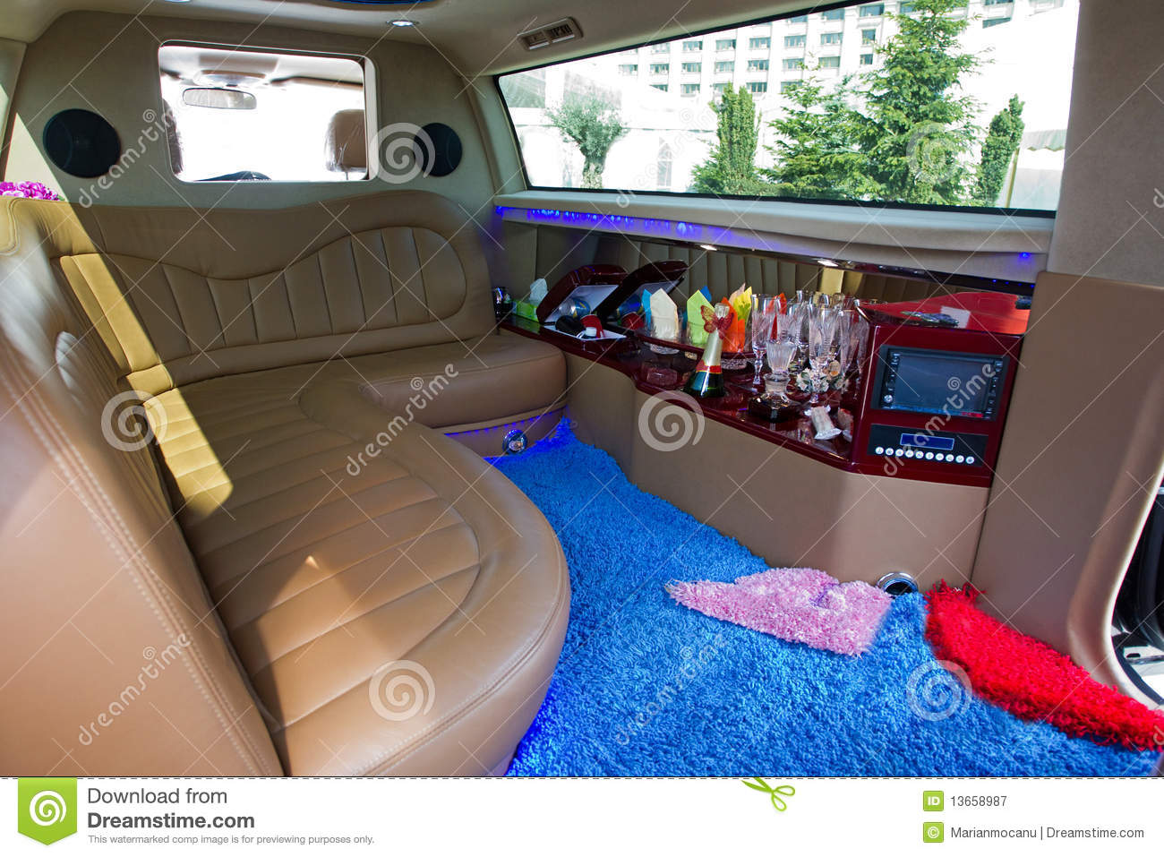 limousine interior stock image image of mini seat free 13658987. Black Bedroom Furniture Sets. Home Design Ideas