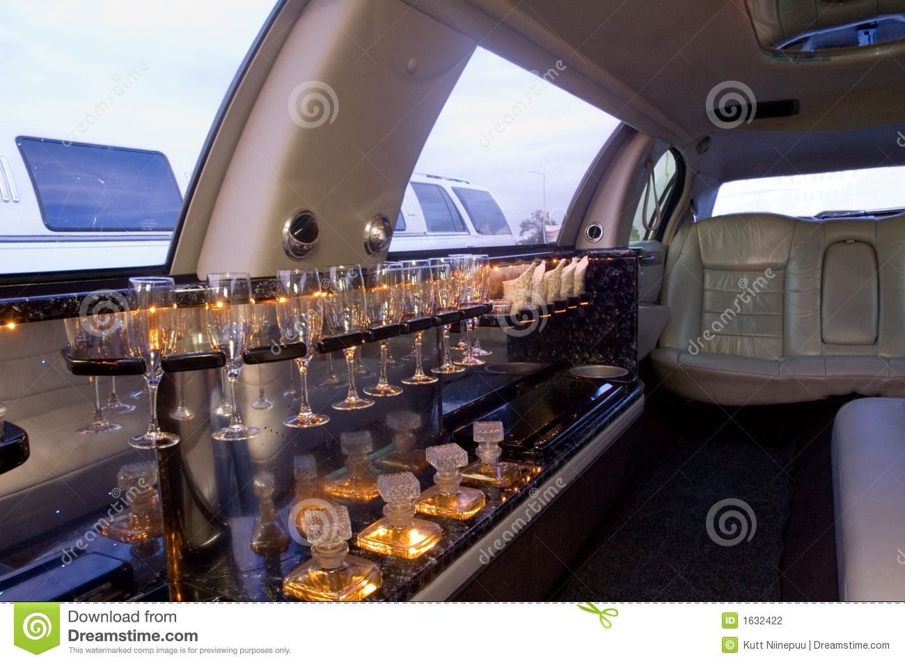 Limousine interior stock photo image of class private - Interior leather bar free online ...