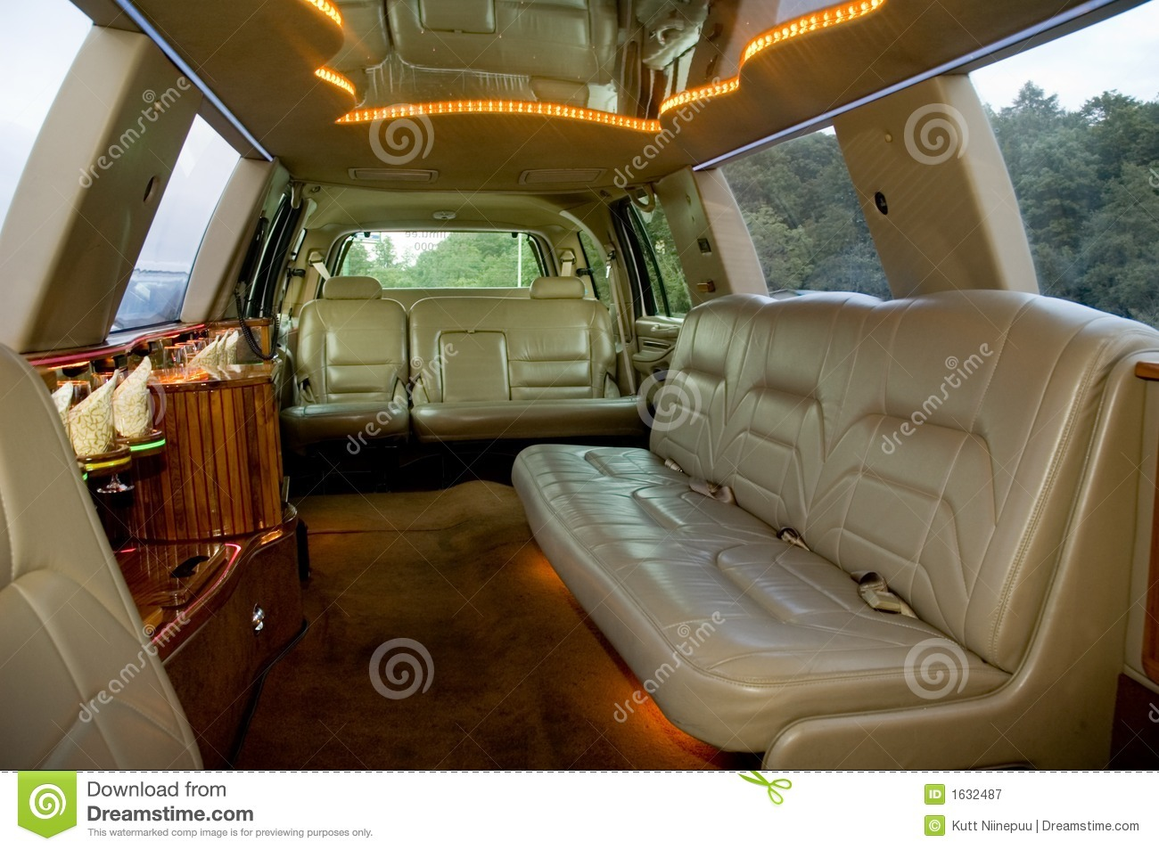 Limousine interior stock image image of limousine - Interior leather bar free online ...
