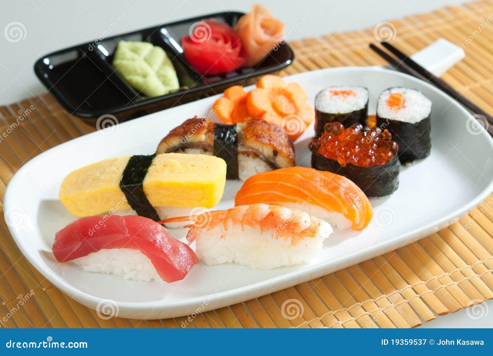 Limpe e alimento do japonês do sushi da higiene