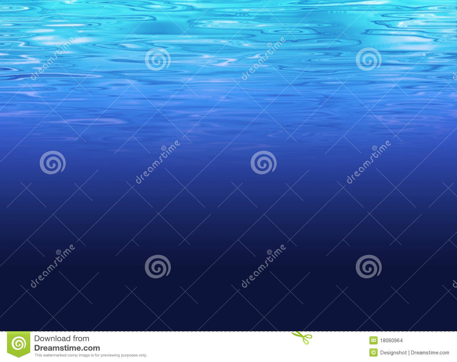 Limpe o fundo do mar profundo - água azul desobstruída