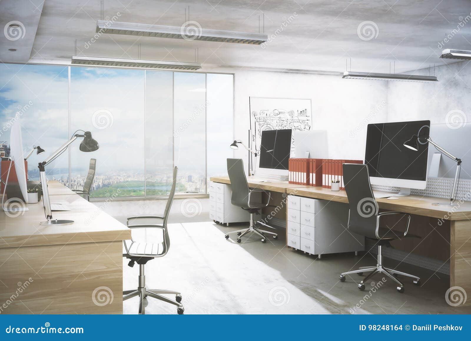 Limpe o interior do escritório