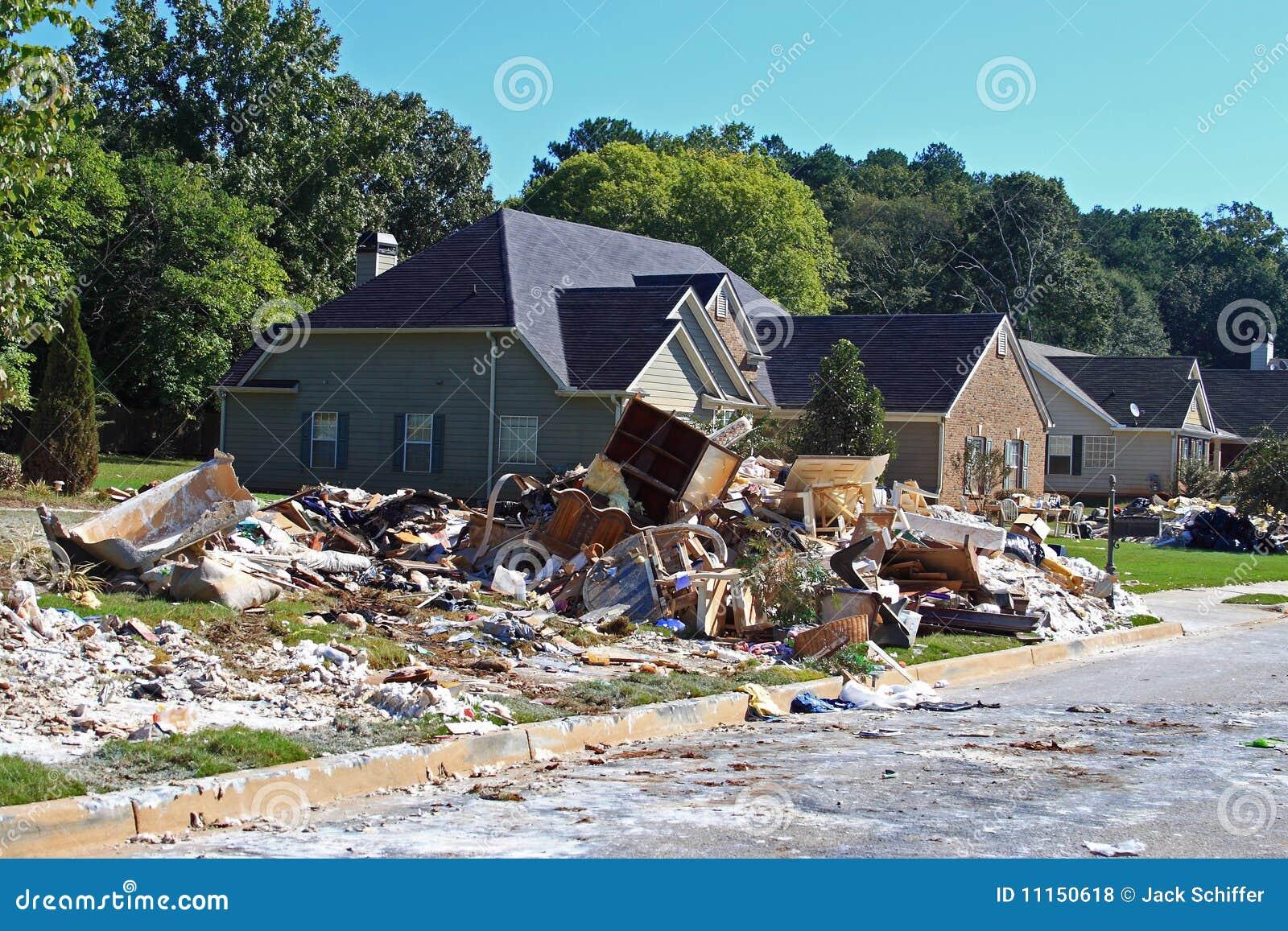 Limpeza da inundação