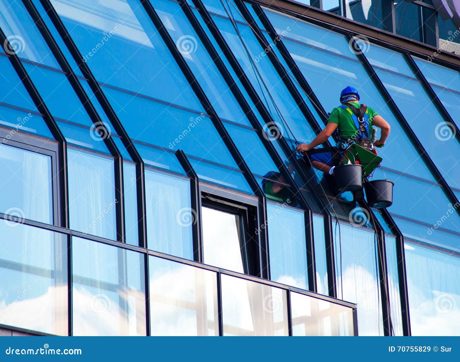 Limpiador de Windows en el trabajo