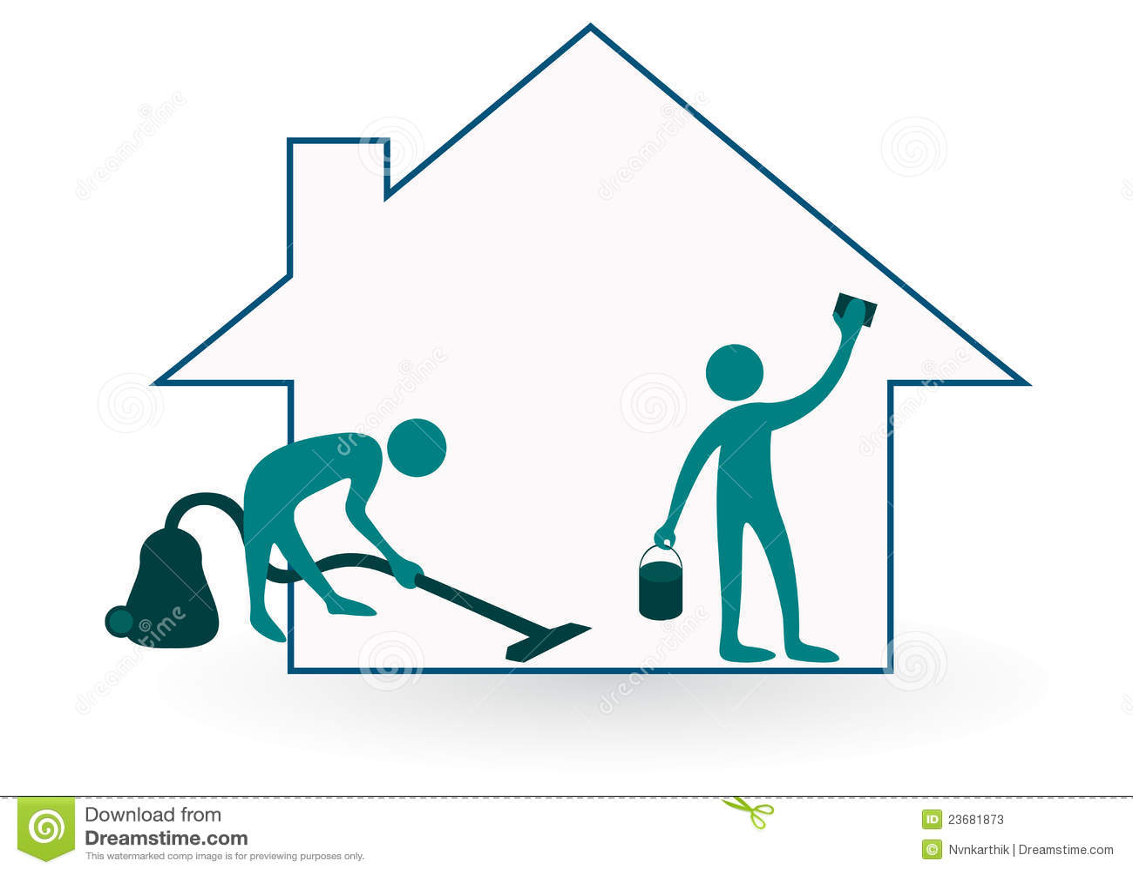 Limpieza de la casa fotos de archivo imagen 23681873 - Limpieza en casas ...