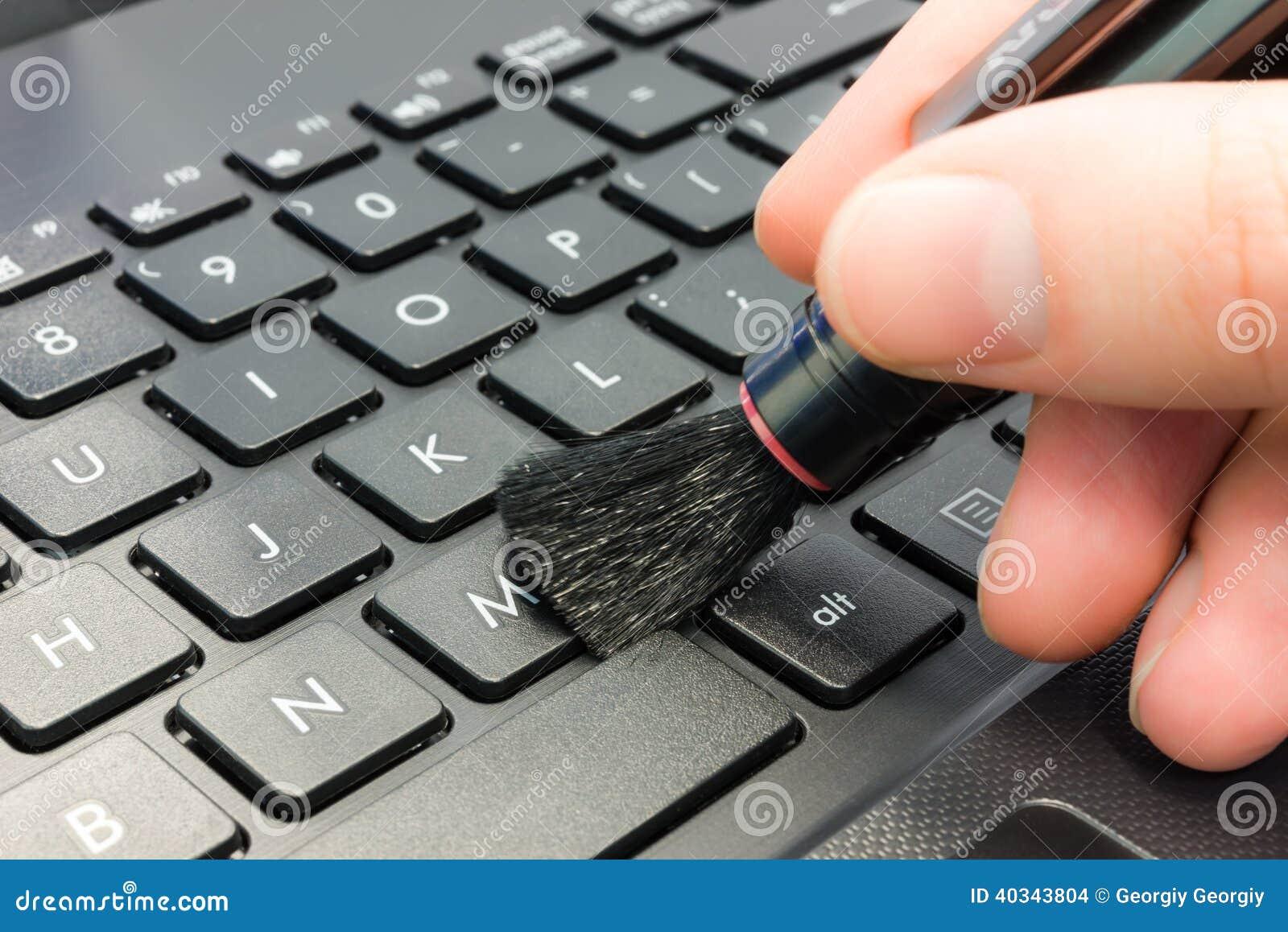 Limpieza del ordenador foto de archivo imagen 40343804 - Foto teclado ordenador ...