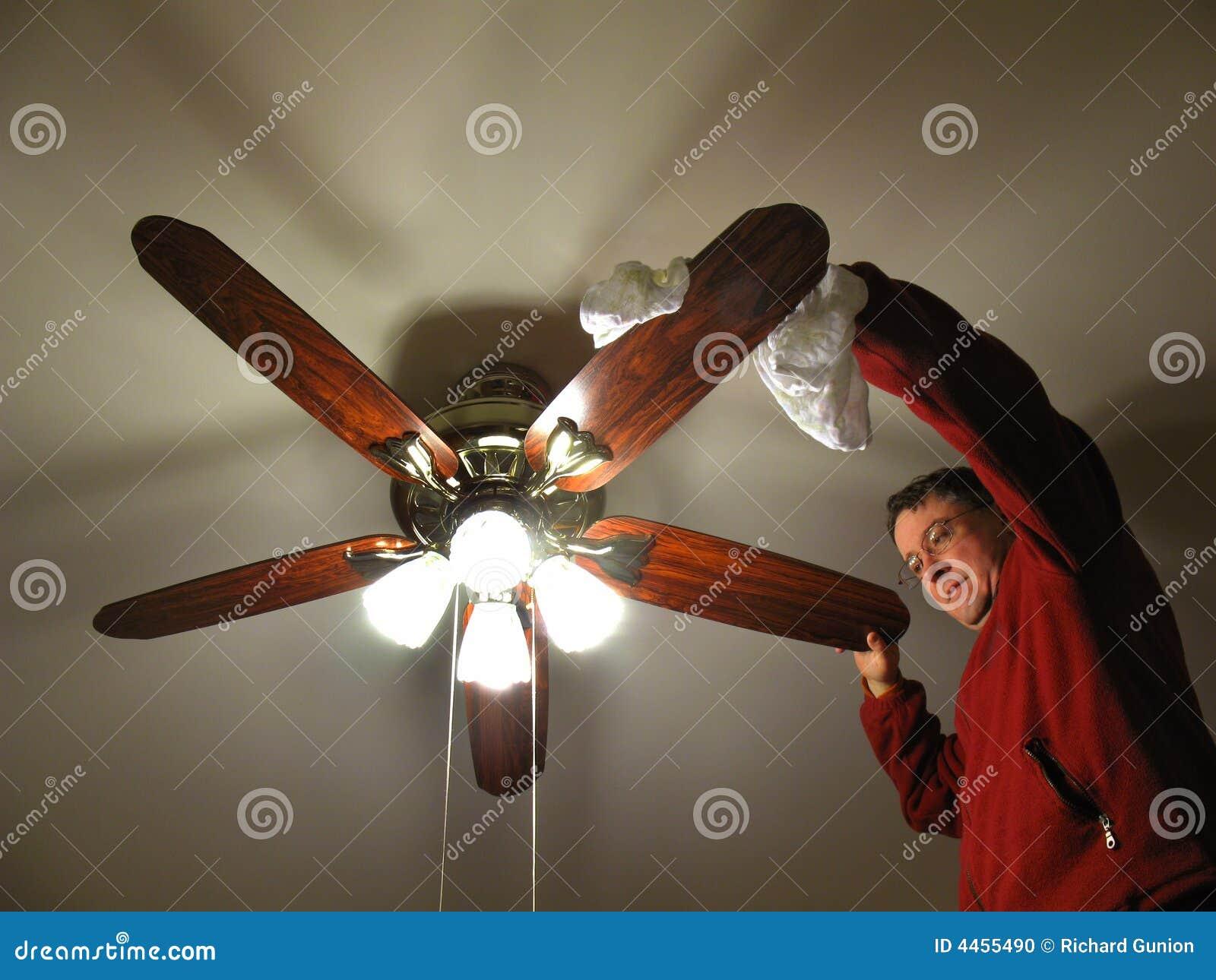 Limpieza del ventilador de techo
