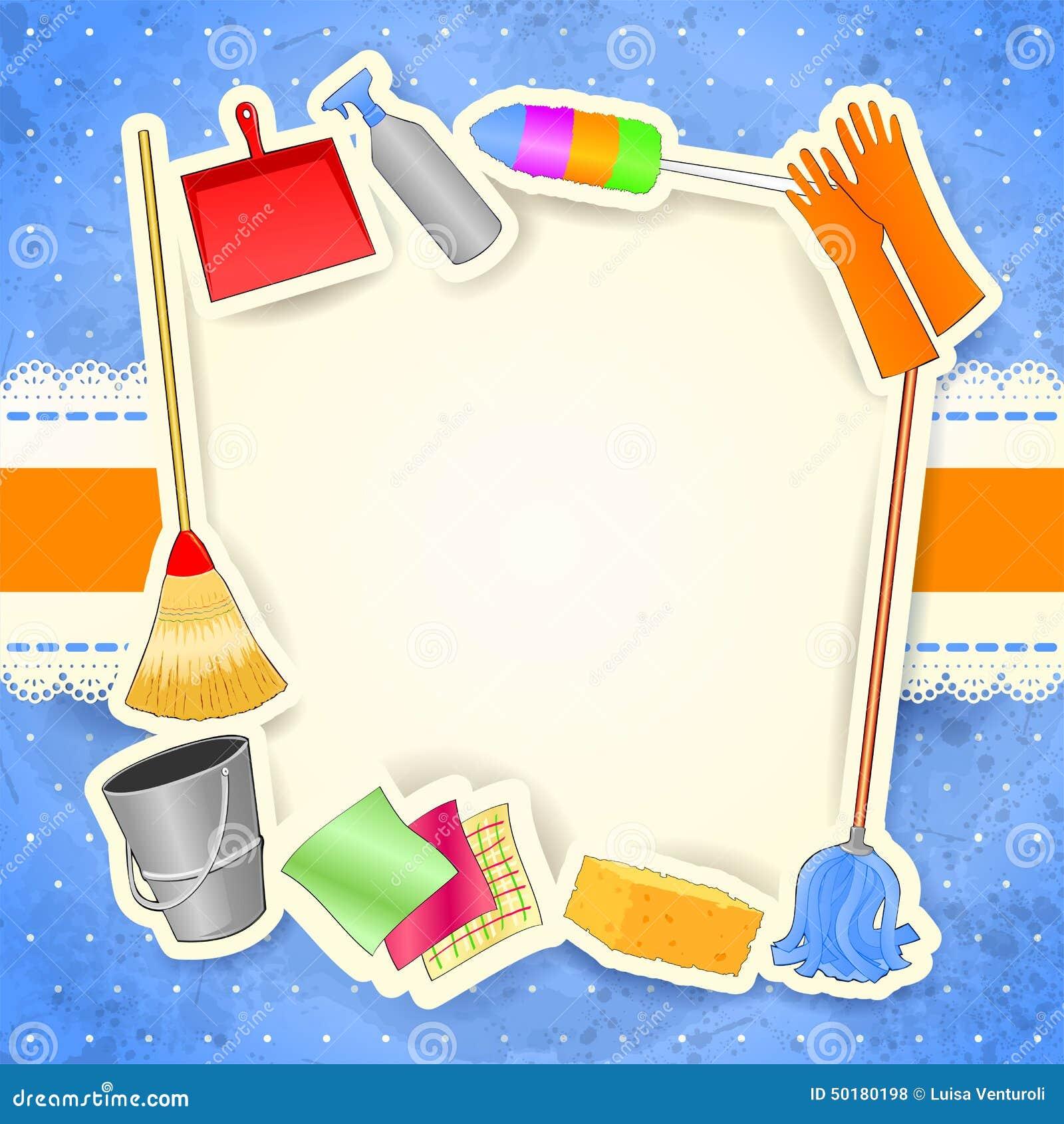 Limpieza fondo con el espacio de la copia ilustraci n del - Imagenes de limpieza de casas ...