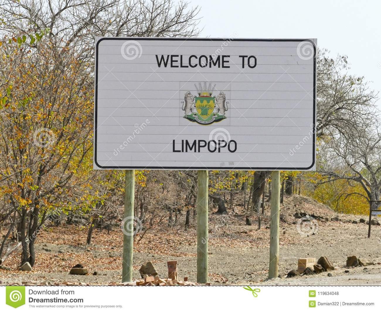 Limpopo sign - travel destination in Africa