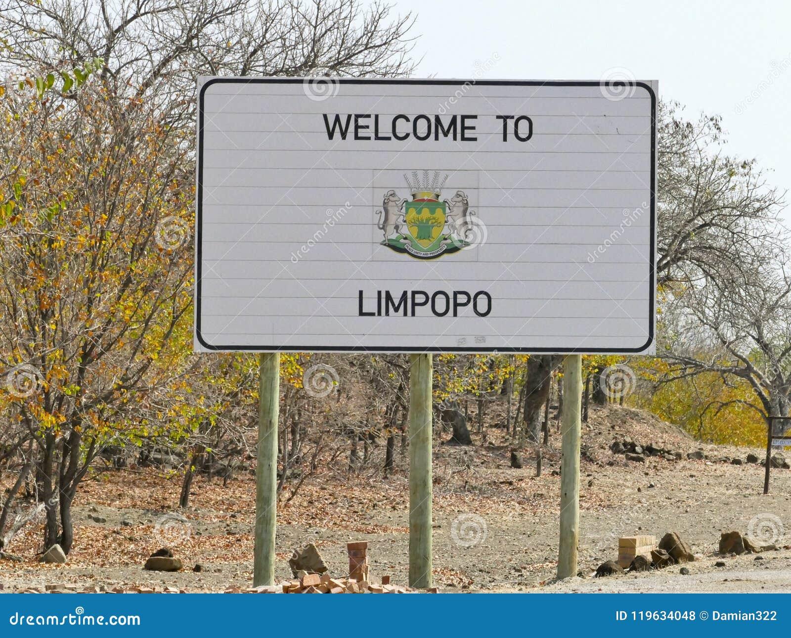 Limpopo znak - podróży miejsce przeznaczenia w Afryka