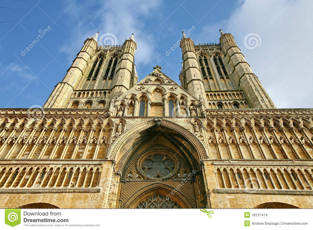 Floor Front Elevation Worship : Lincoln cathedral front elevation stock photo image