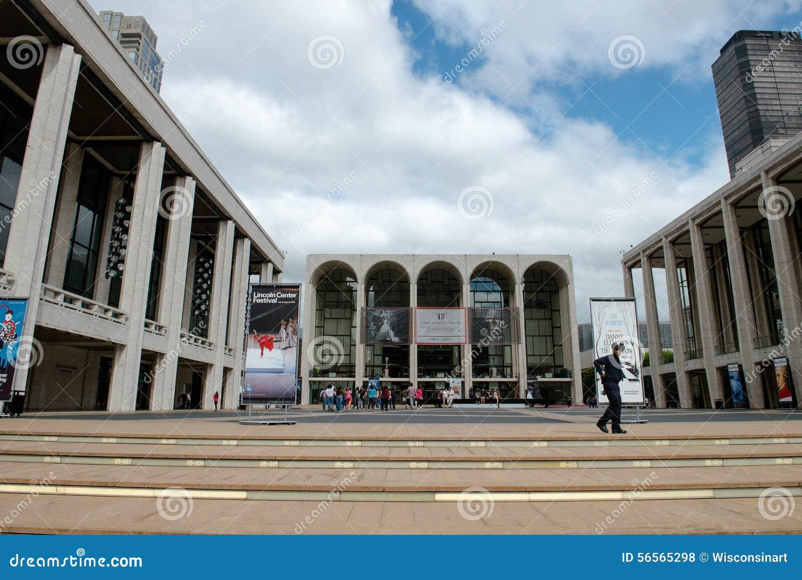 Download Lincoln Center, πόλη της Νέας Υόρκης Εκδοτική Στοκ Εικόνες - εικόνα από πόλη, νέος: 56565298