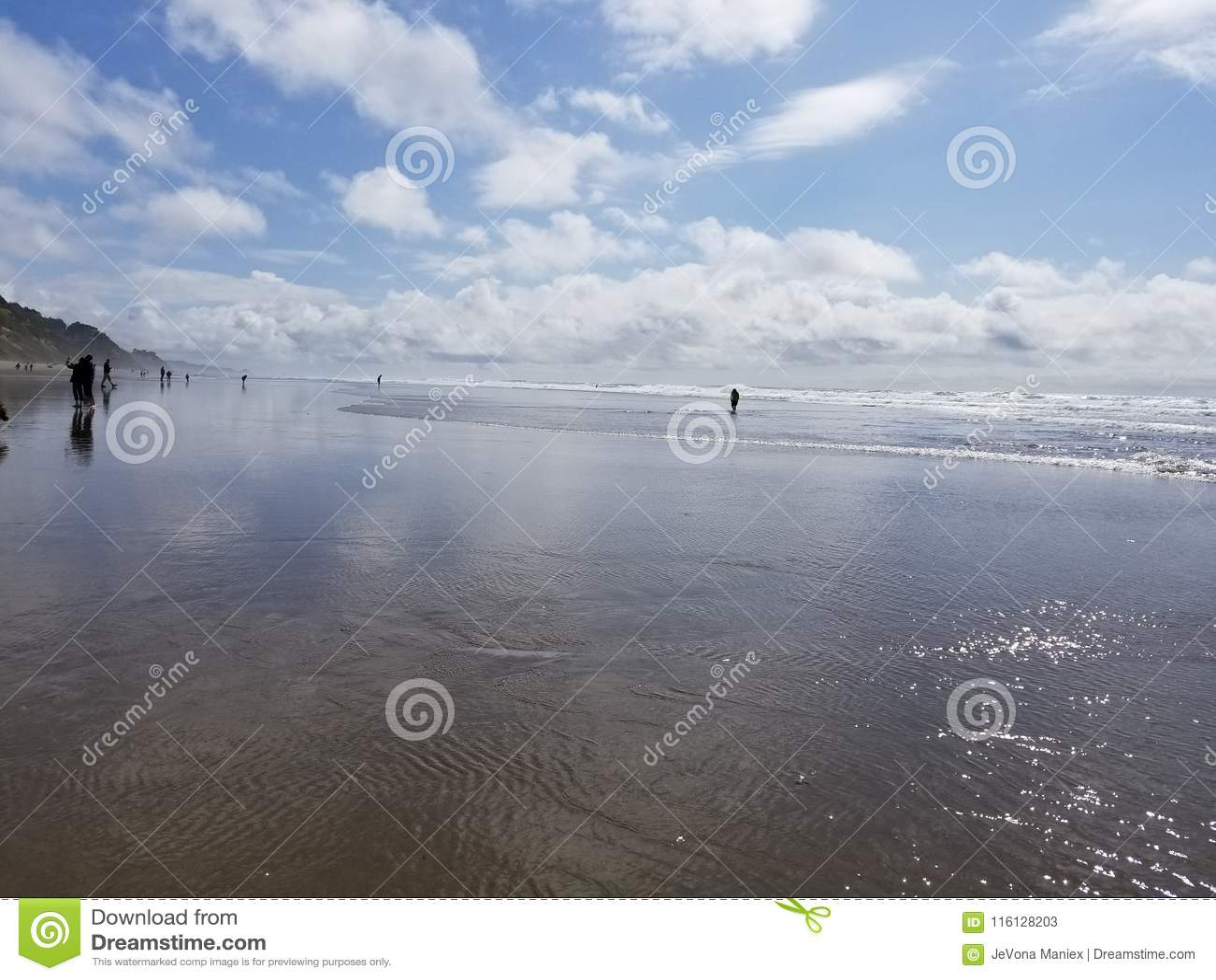 Lincoln City Oregon Beach Sun