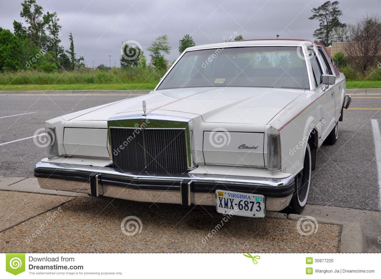 1980 Lincoln Continental Mark VI Editorial Image - Image of