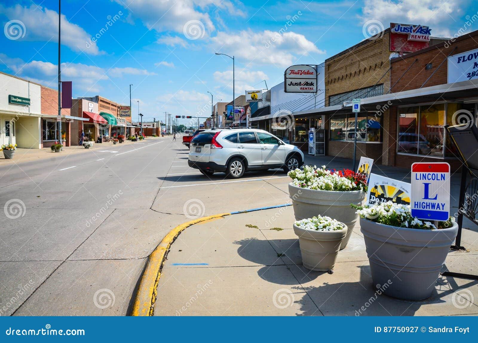 lincoln highway ogallala nebraska editorial photography image 87750927. Black Bedroom Furniture Sets. Home Design Ideas