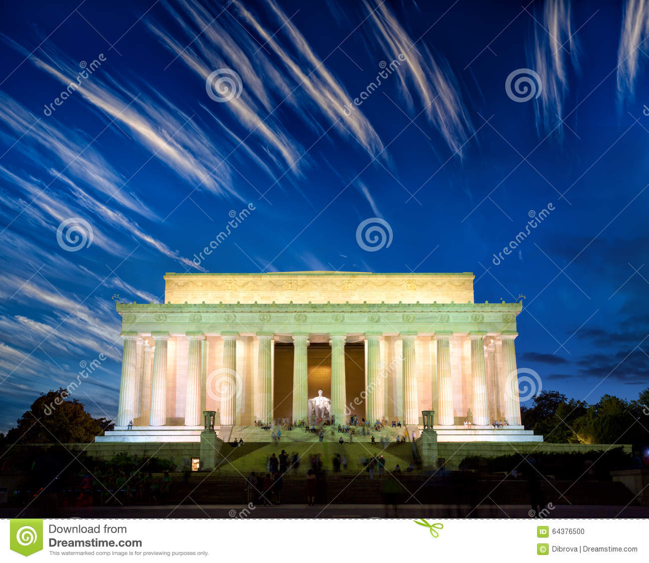 The Lincoln Memorial Stock Photo Image 64376500