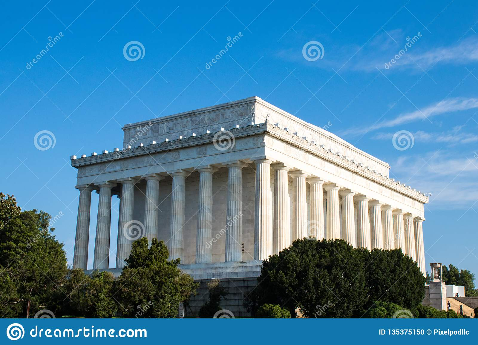 Lincoln Memorial majestoso, Washington D C,