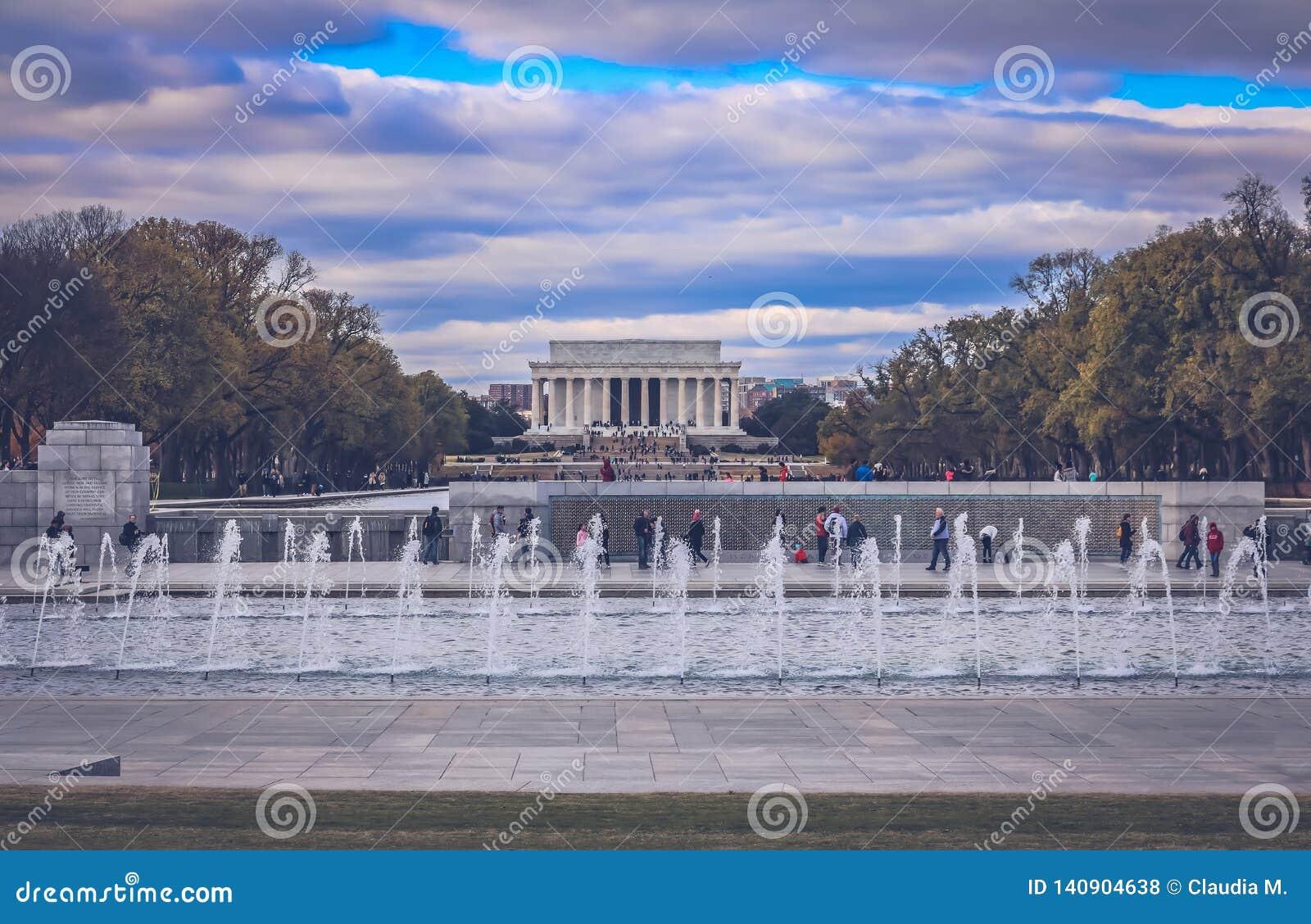 Lincoln memorial monument in Washington