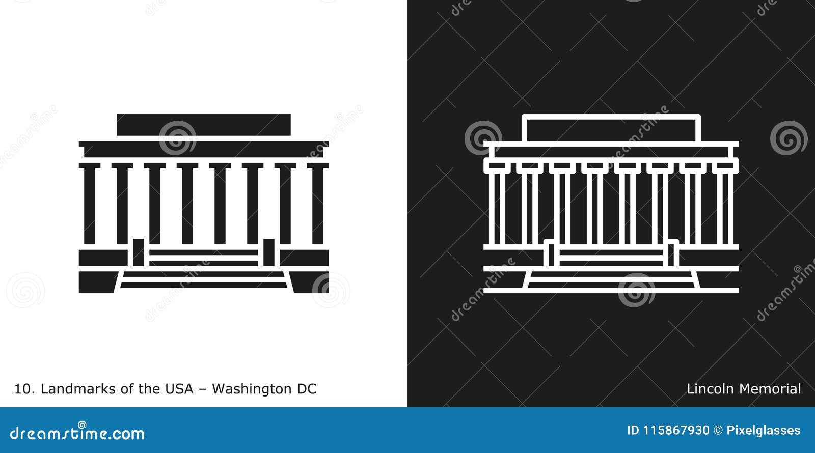 Lincoln Memorial-pictogram
