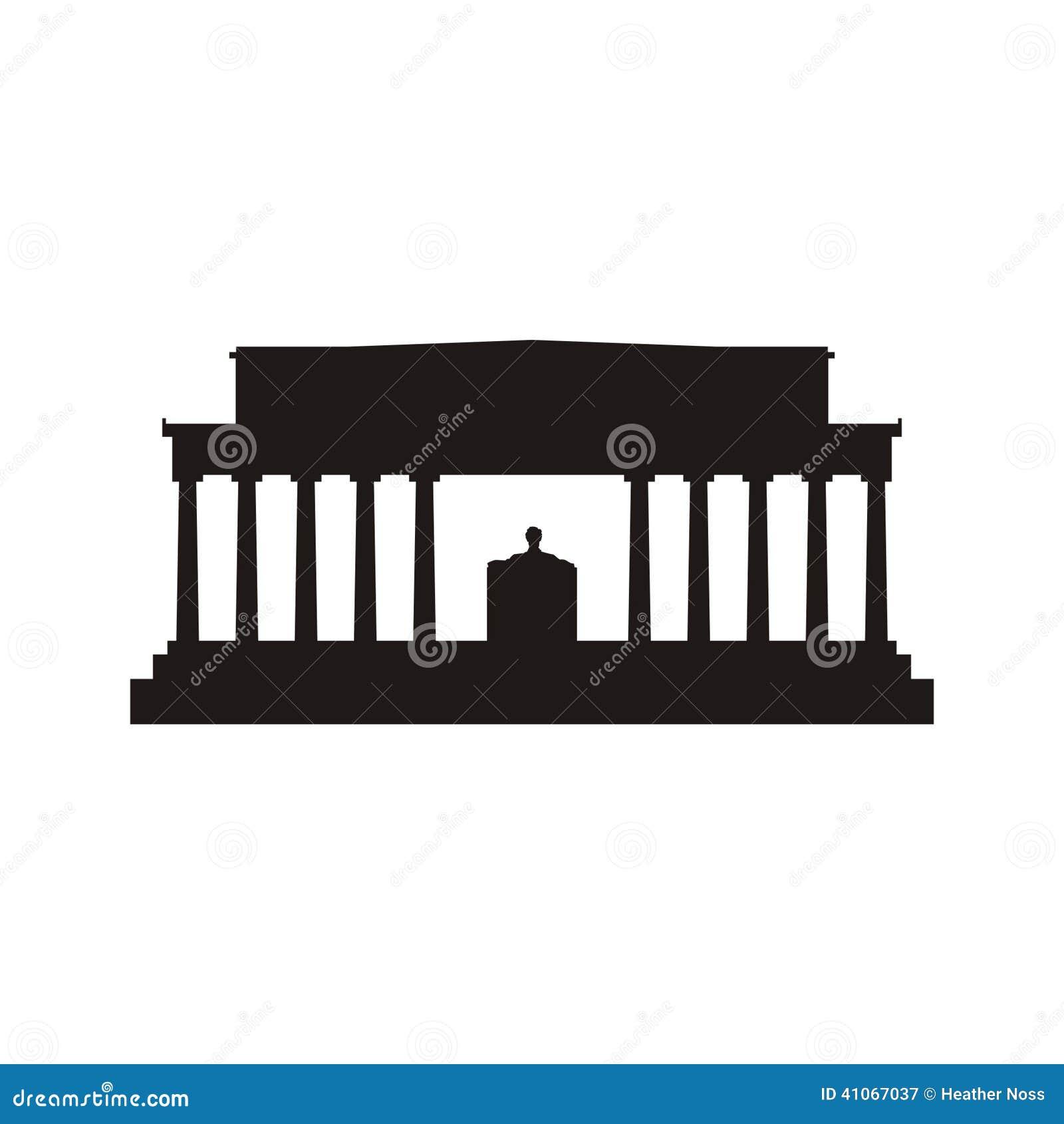 Lincoln Memorial-silhouet