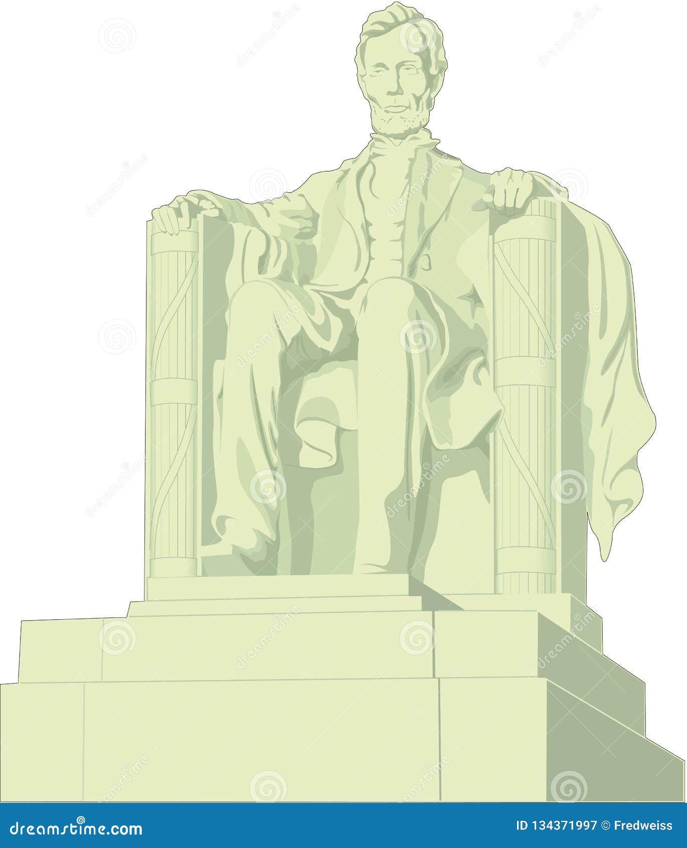 Lincoln Memorial Vetora Illustration