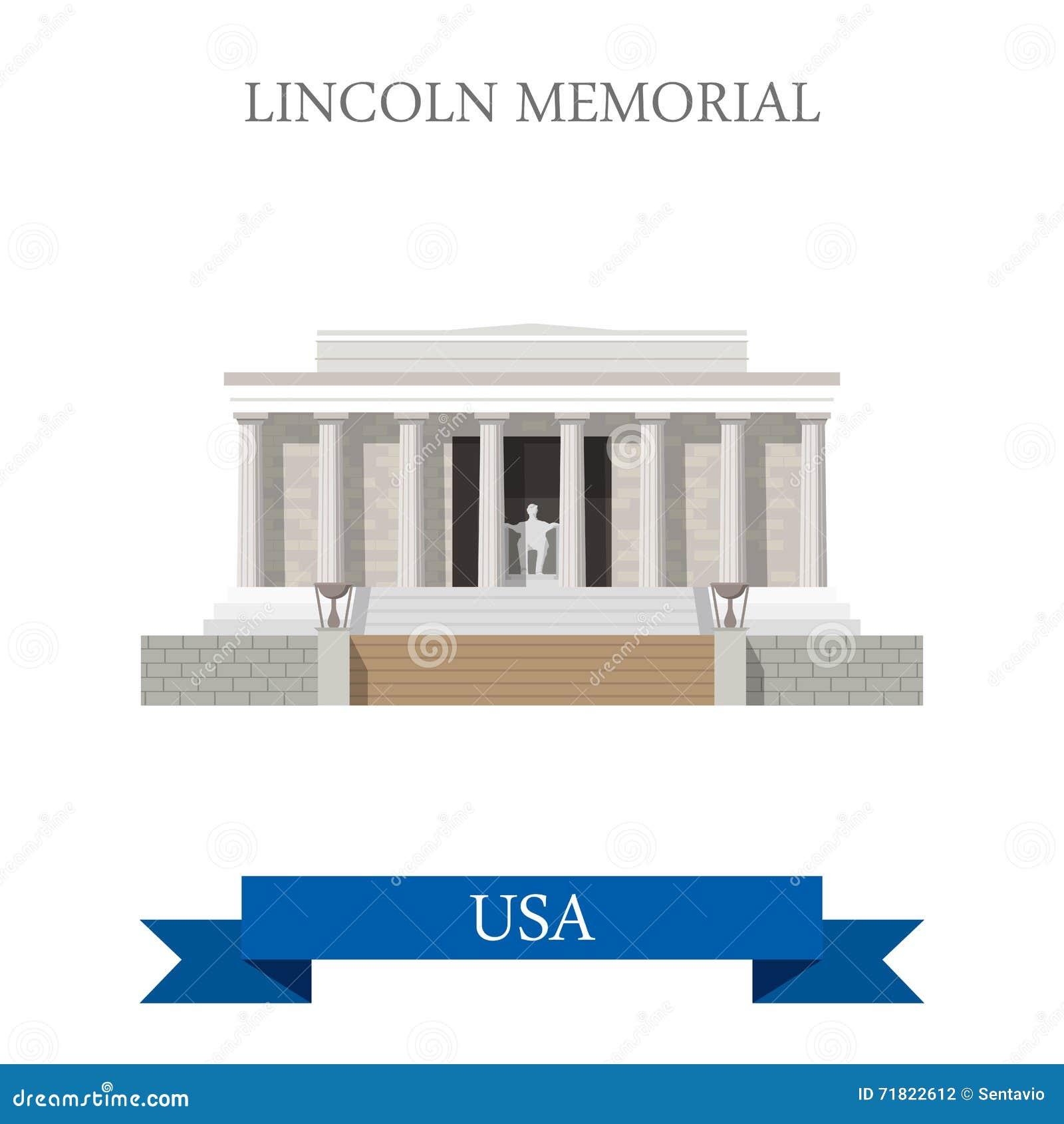 Lincoln Memorial in Washington United States vlak