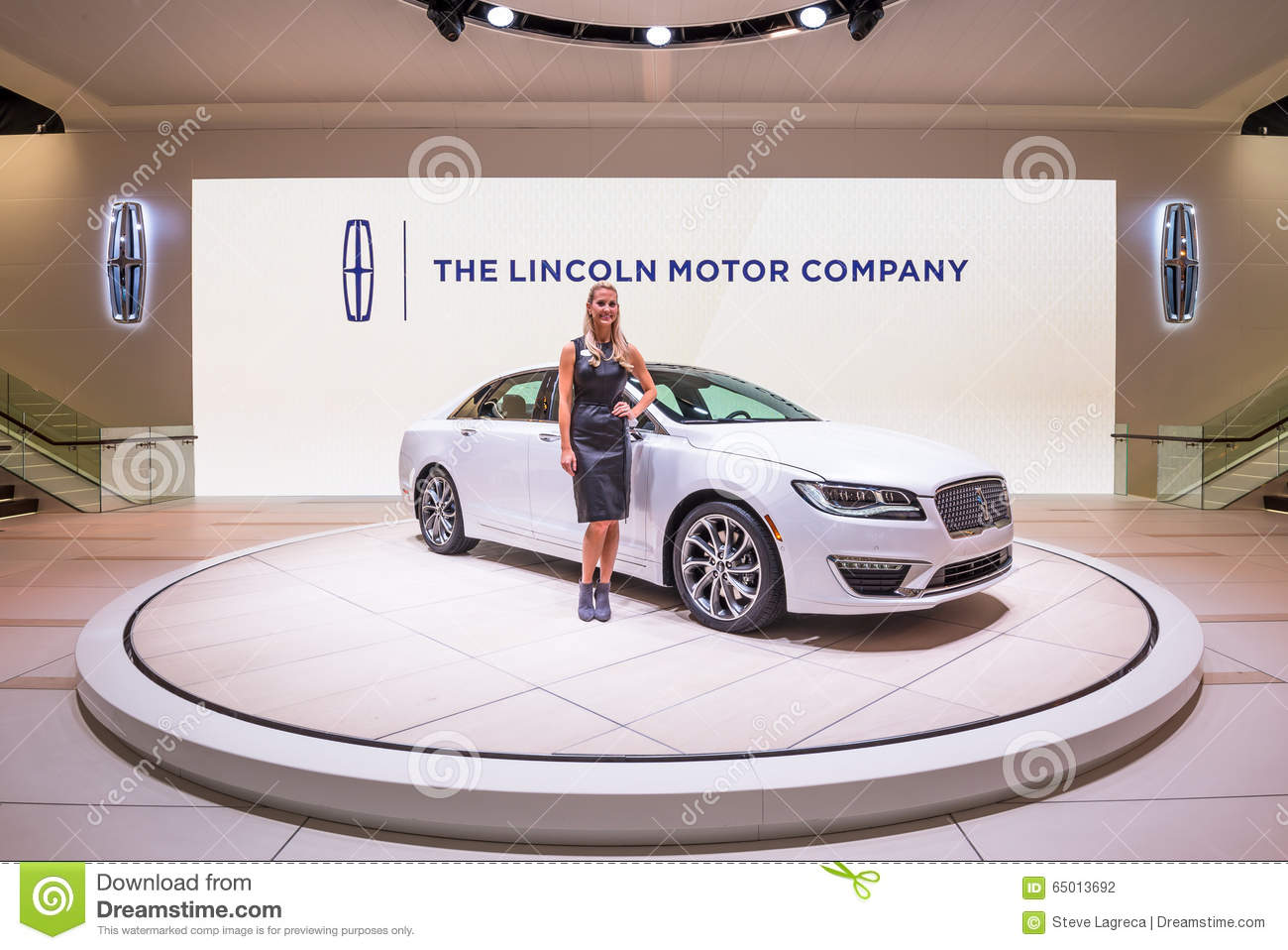 2016 Lincoln MKZ editorial photography. Image of female - 65013692
