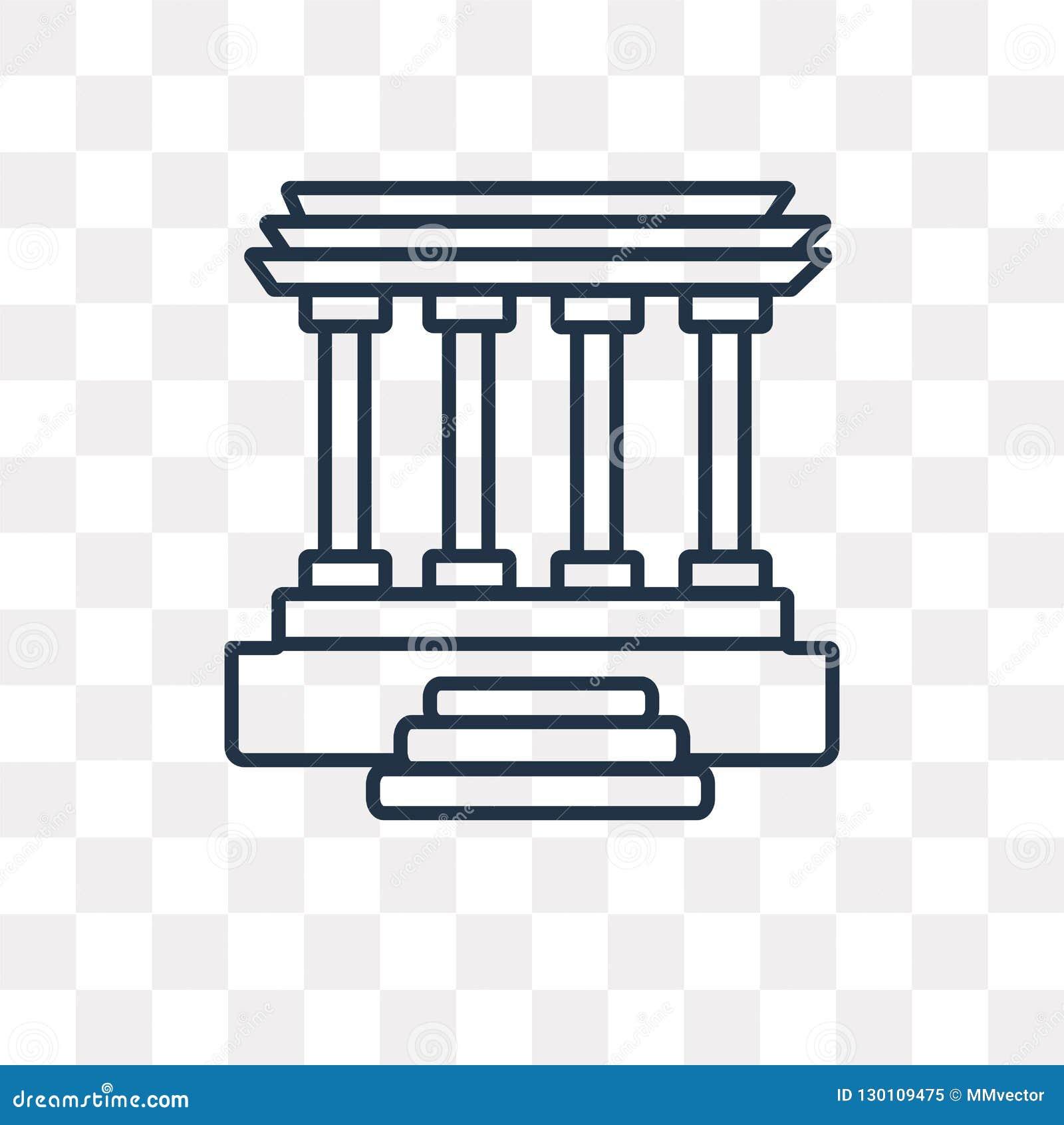 Lincoln pamiątkowa wektorowa ikona odizolowywająca na przejrzystym tle,