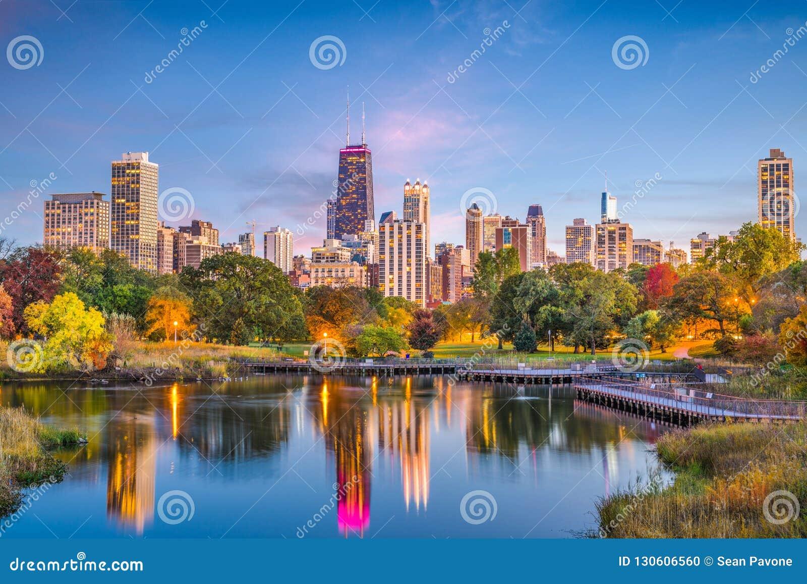 Lincoln Park, horizonte de Chicago, Illinois