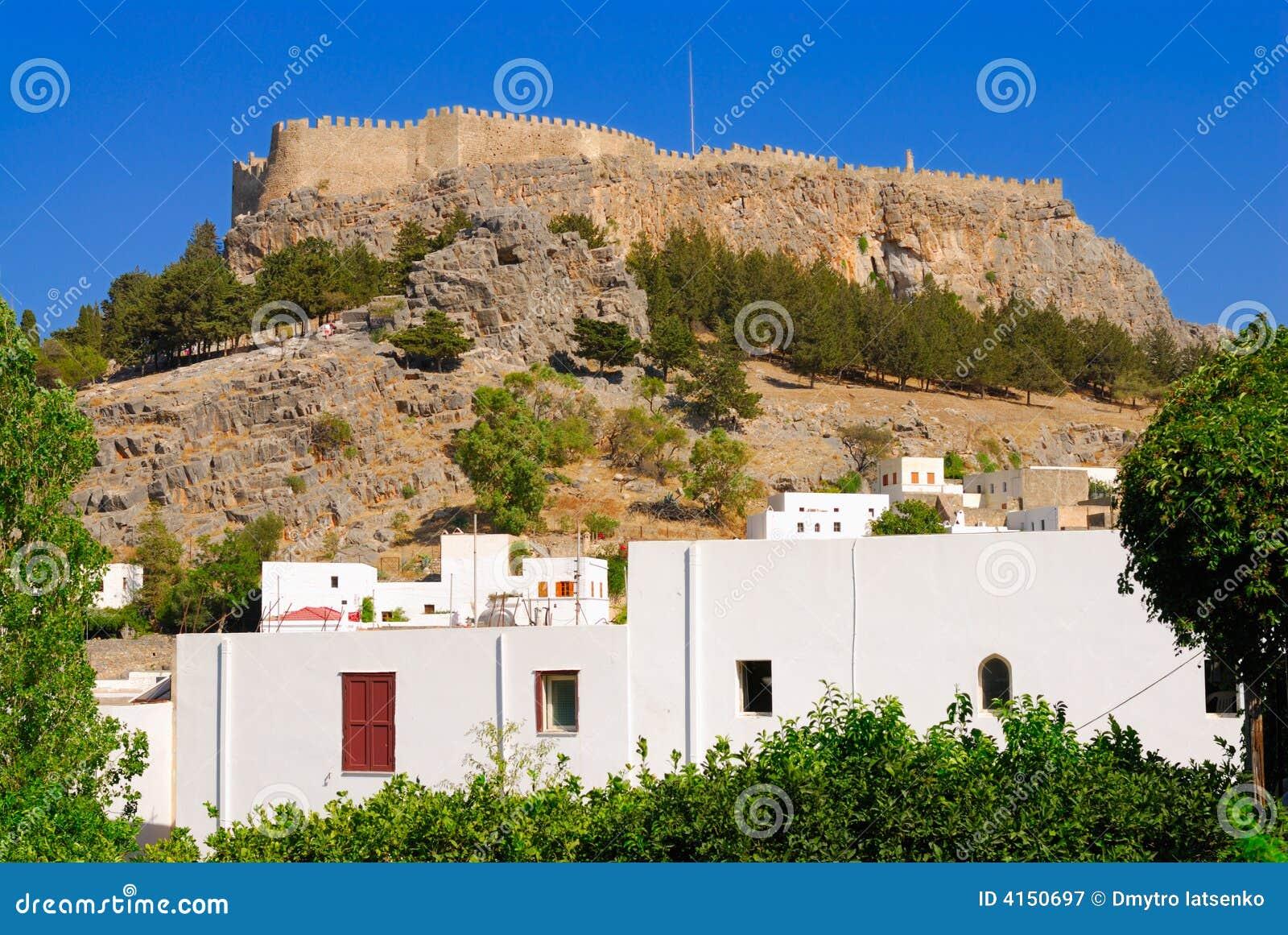 Lindos Греции акрополя