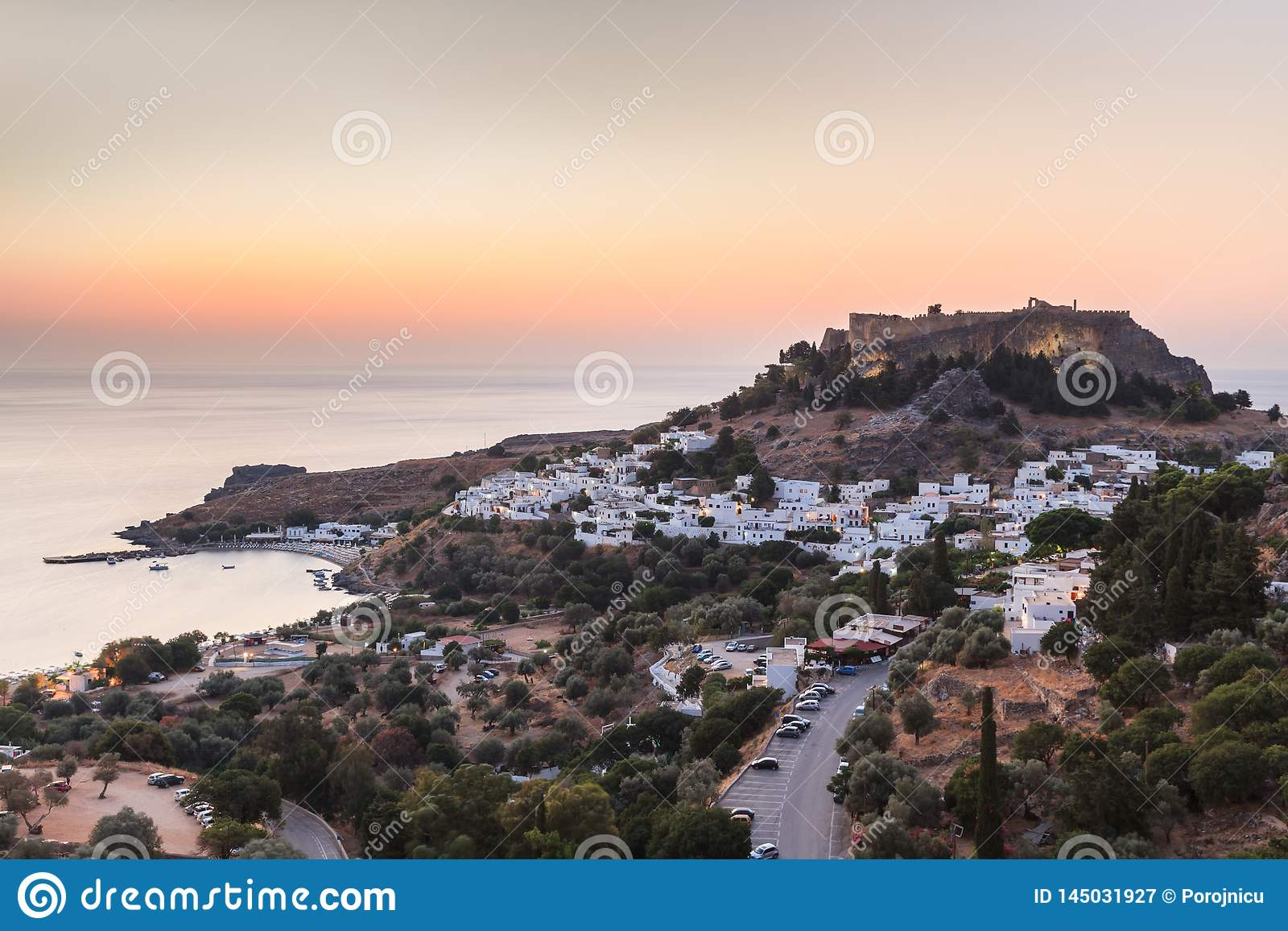Lindos Castle and village, Greece