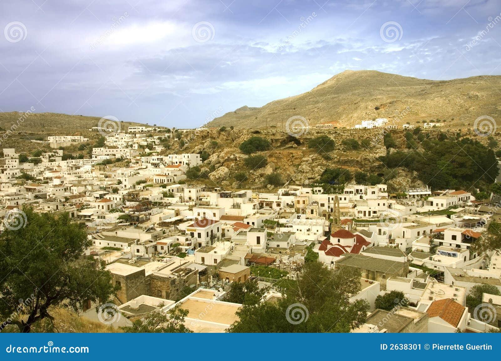 Lindos Village Stock Image - Image: 2638301