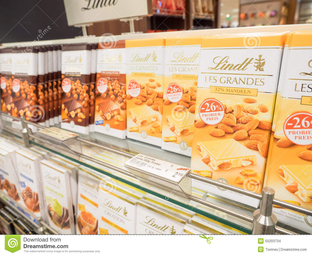 Lindt Chocolate Editorial Stock Image - Image: 55203734