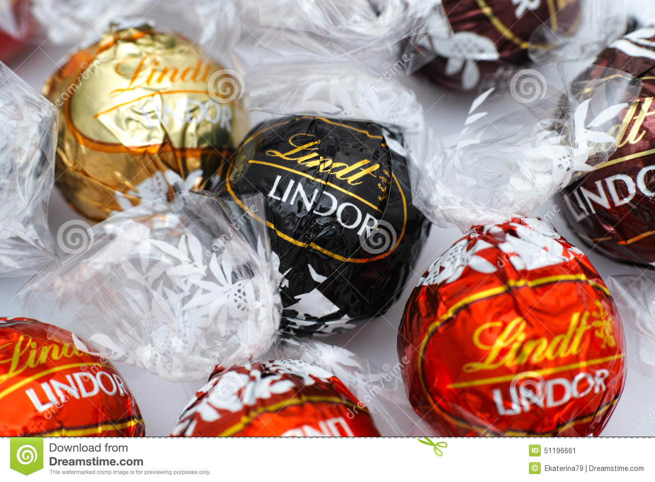 Lindt Lindor Chocolate Candies Editorial Photo - Image: 51196661