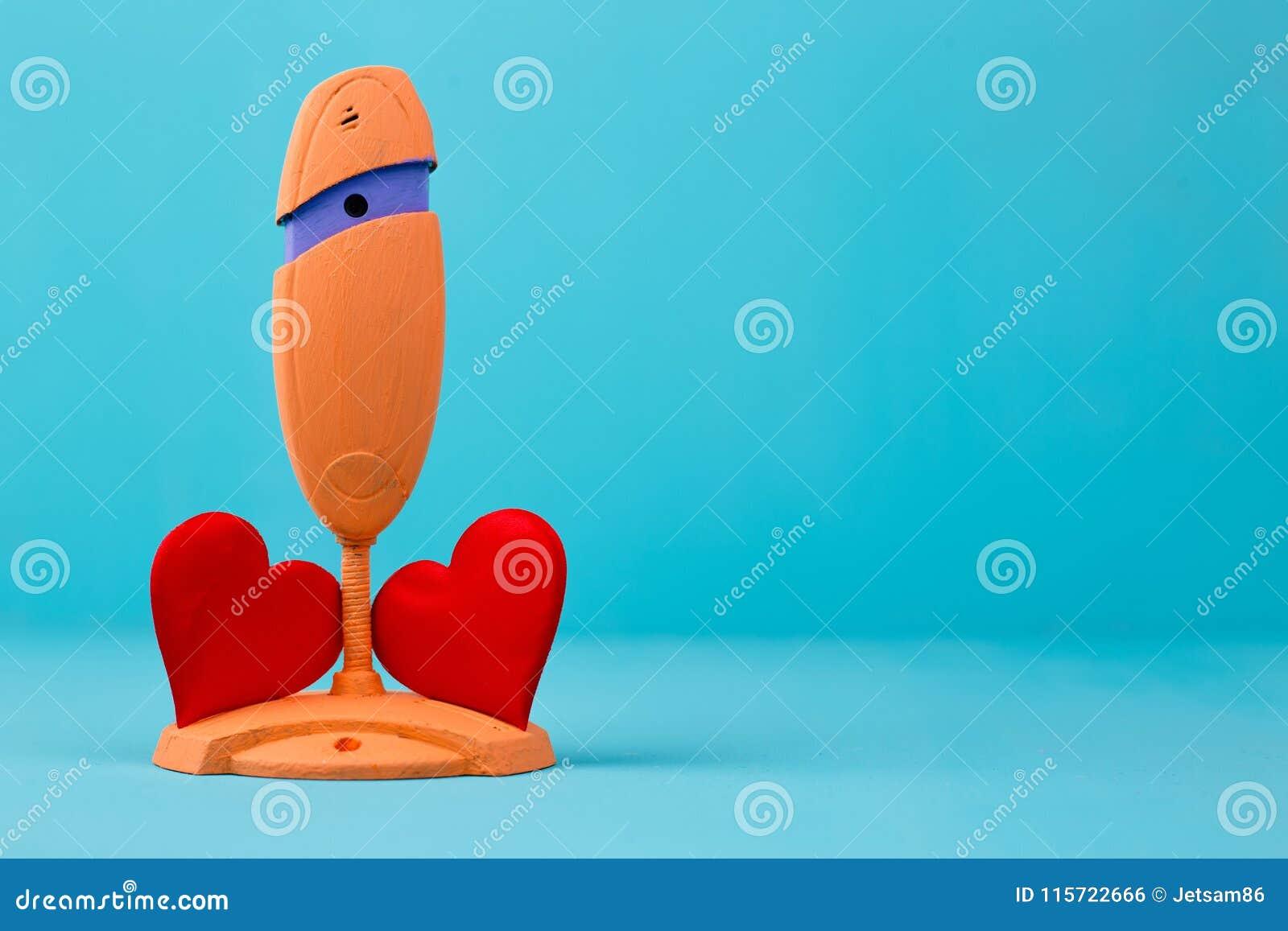On-line χρονολογώντας, έννοια συνομιλίας αγάπης Ιστός-κάμερα και κόκκινο ύφασμα δύο