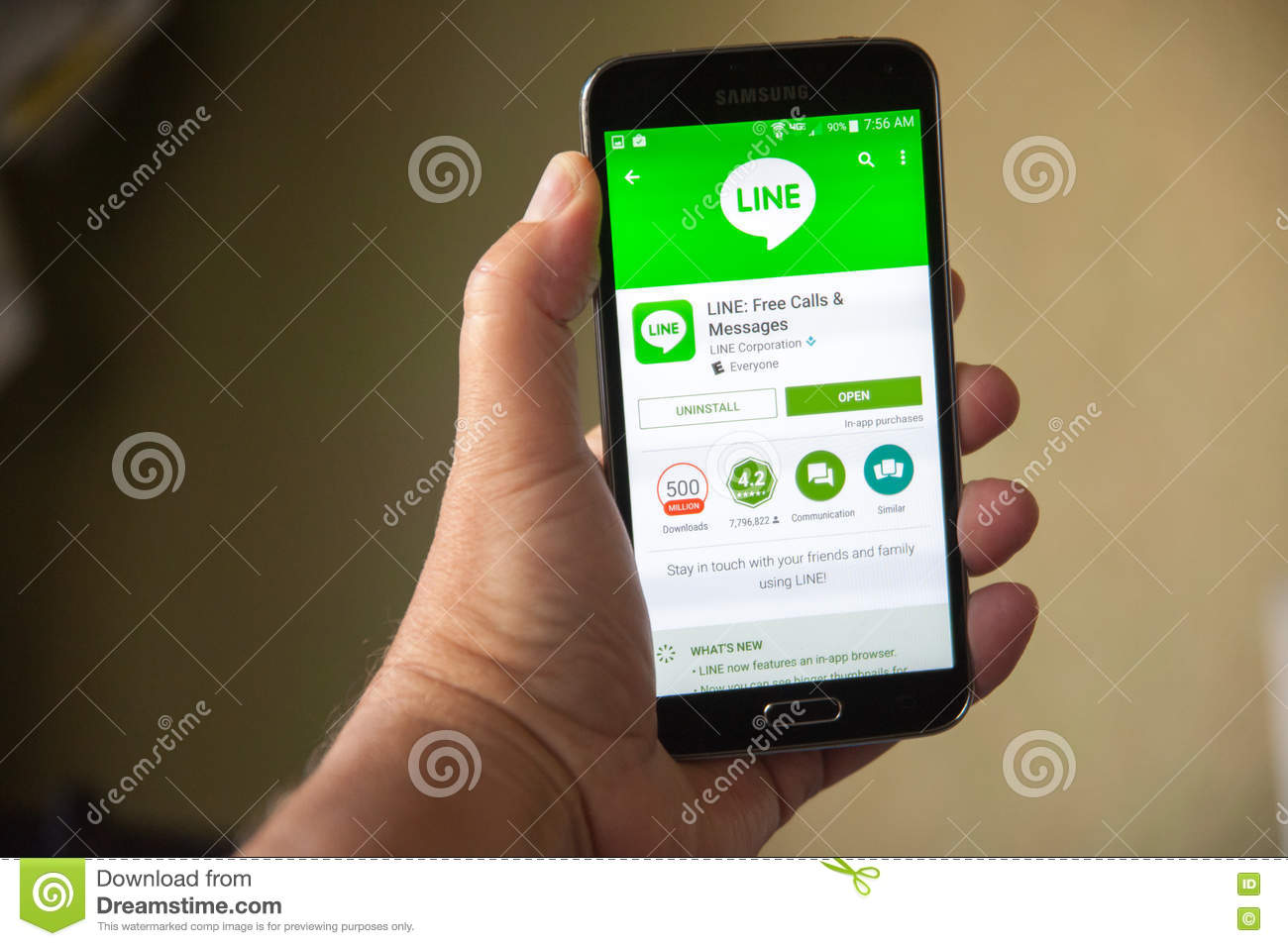 Line App editorial photo  Image of samsung, stay, android