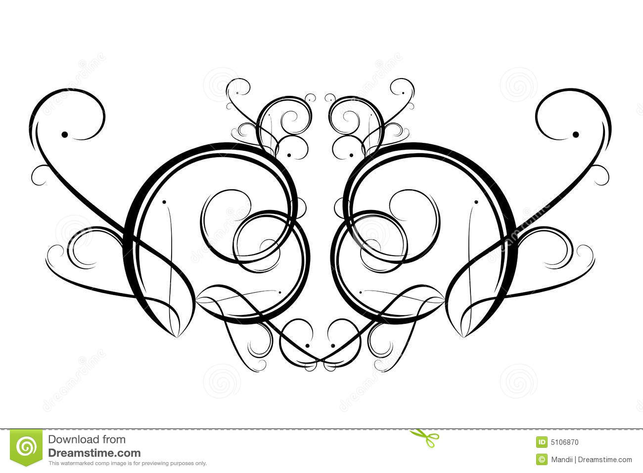 Drawing Lines With Core Graphics : Line art stock illustration of symmetry