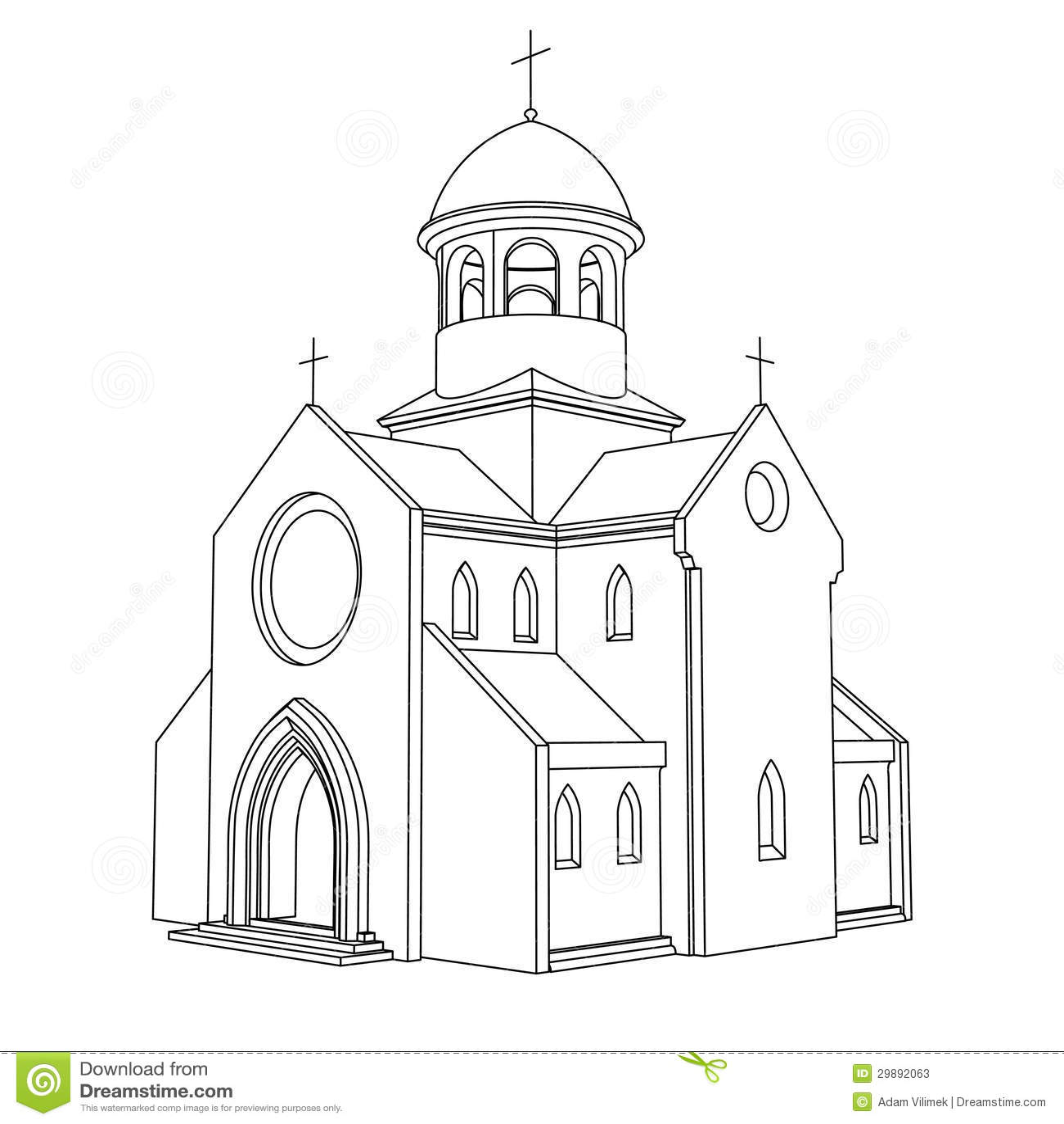 Line Art Vector Illustrator : Line art ancient basilica drawing vector stock photos