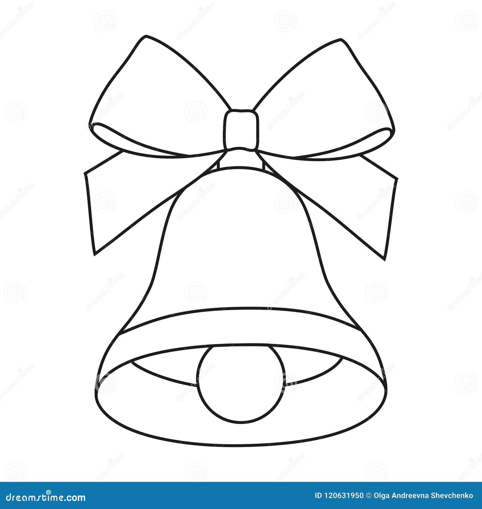 line art black and white bell