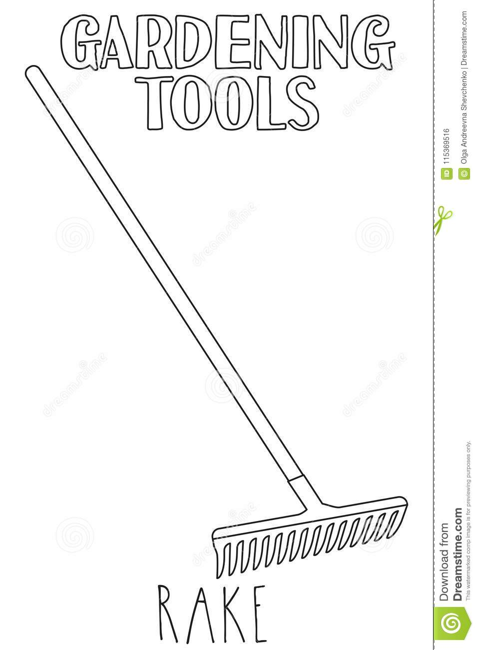 kids gardening tools coloring pages - photo#34