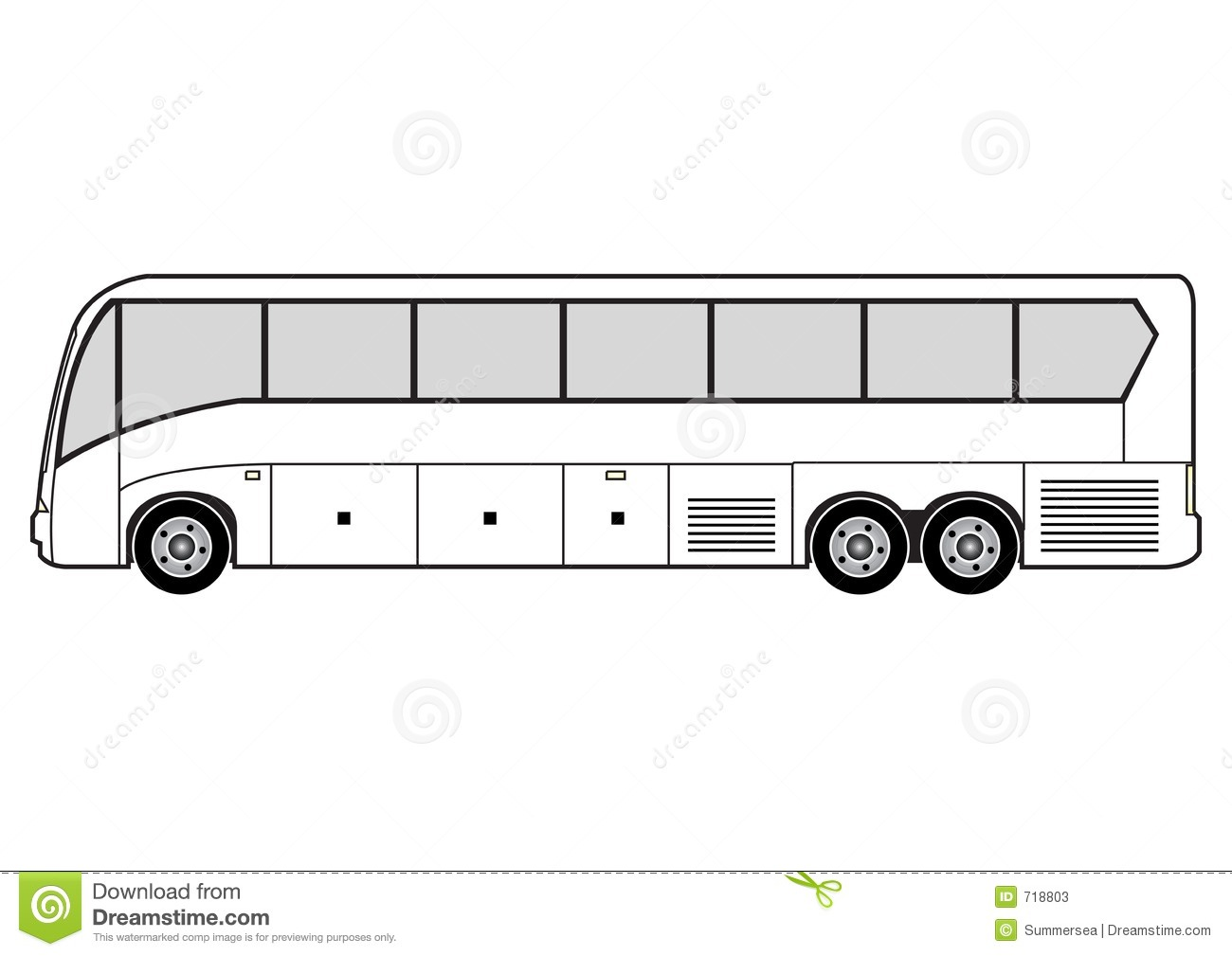 Line Art Bus Stock Photos Image 718803