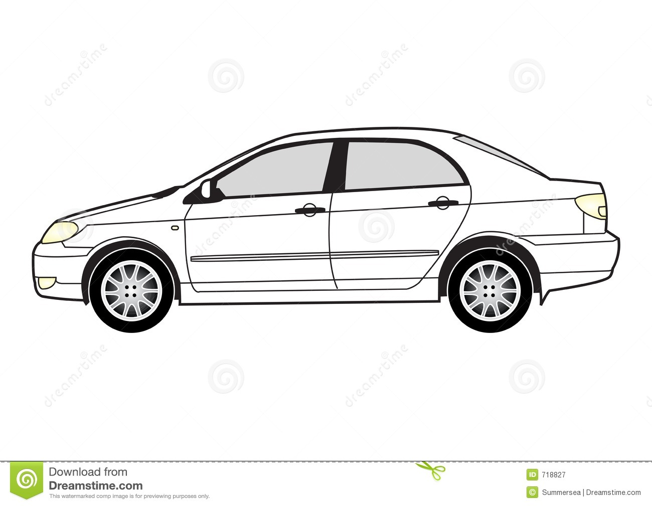 Line Drawing Of Car : Line art car royalty free stock photography image
