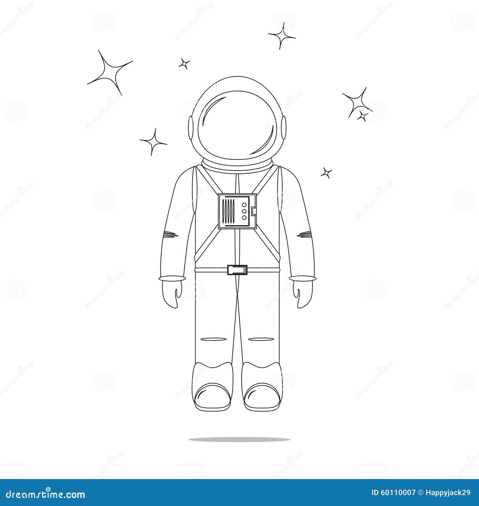astronaut line design royalty