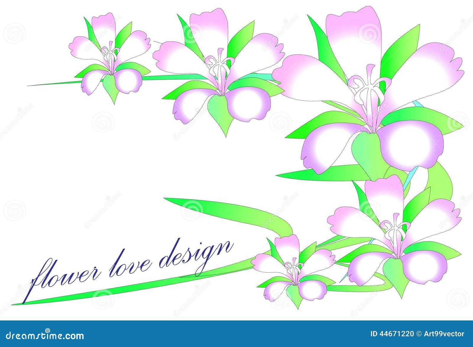 Green Flower Line Drawing : Line art flower stock illustration image